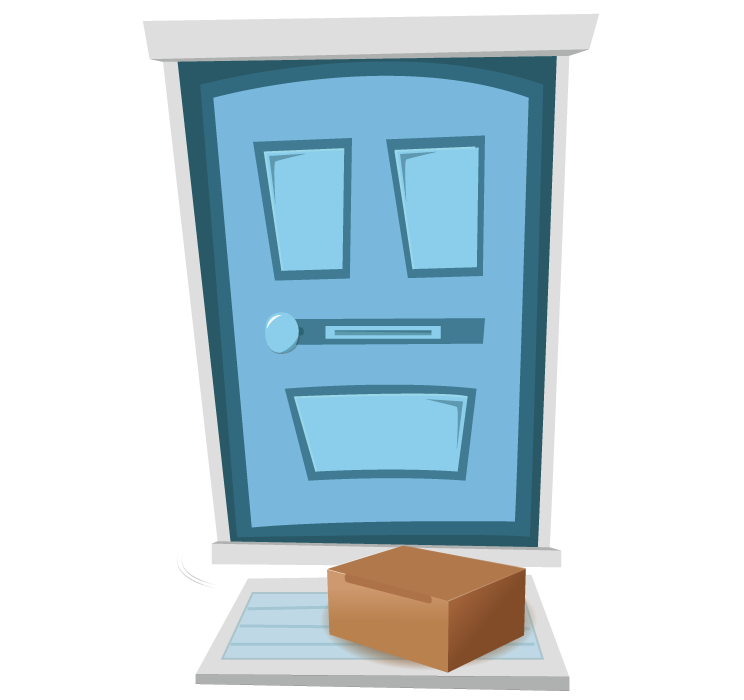 Tea Box at Door