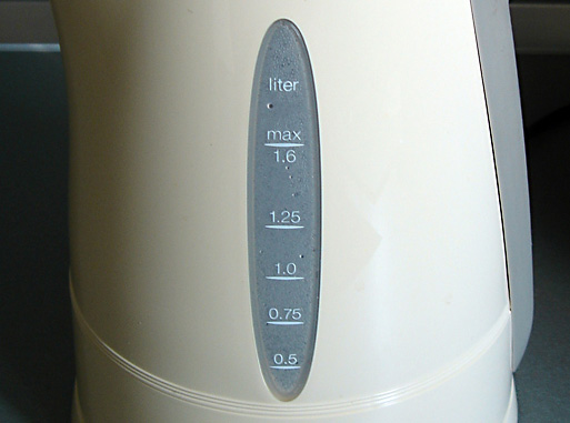 Electric kettle viewing window