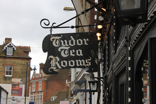 Tea Rooms sign